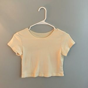 Tops - Yellow Crop Top - T-Shirt style